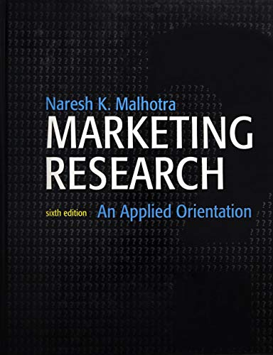Marketing Research: An Applied Orientation
