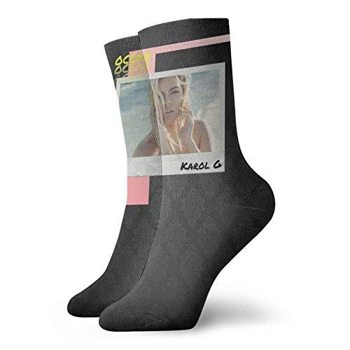 Yuanmeiju calcetines de punto Karol G Ocean Unisex Dress Funny Crazy Winter Warm Crew Socks