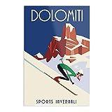 Dolomites Poster – Trendiges Poster für das Badezimmer,
