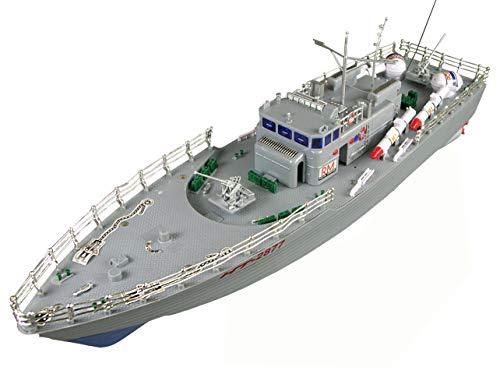 Amewi 26009 Military - Barca de Torpedo teledirigida (Incluye Dos Motores eléctricos y Mando a Distancia)