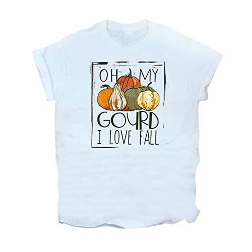Sensail- T-Shirt à Manches Courtes et col Rond pour Femmes Grande Taille Pullover Chemise Tops