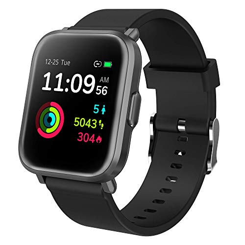 GRDE Smartwatch Bluetooth Fitness Tracker 1.3'' Voll Touchscreen Smartwatch Damen Herren 5ATM Wasserdicht Aktivitätstracker mit NEU Herzfrequenzmesser SpO2 Schlafmonitor Musiksteuerung DIY Hintergrund