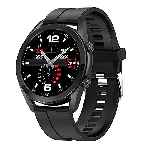 QFSLR Rastreador De Actividad Reloj Inteligente con Frecuencia Cardíaca Presión Arterial Y Monitoreo del Sueño Rastreador De Ejercicios Calorías IP68 Smartwatch con Podómetro Impermeable,Negro