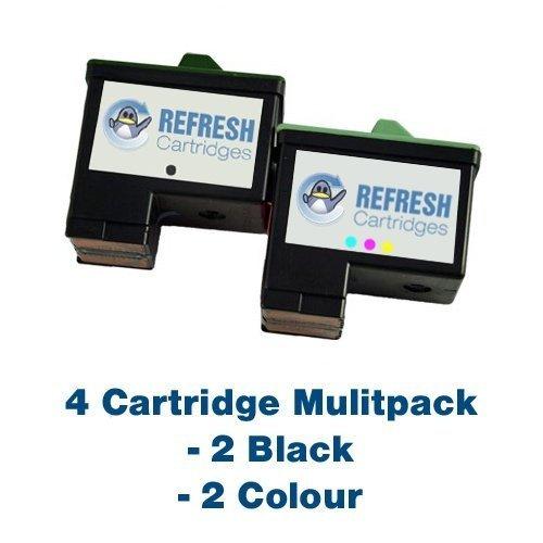Unidades - 2 x 4 cartuchos Lexmark 16 (negro 10N0016) y 2 x Lexmark 26 (10N0026 color) remanufaturados , , Para uso con Lexmark Z13, Z23, Z25, Z33, Z34, Z35, X74, X75, I3, I13, Z500, Z515, X1100 X1130, X1150, X1160 X1180, X1190, X1250 X1270, X2250, Z600, Z601, Z602, Z604, Z605, Z615, Z640, Z645 - Refresh Cartridges
