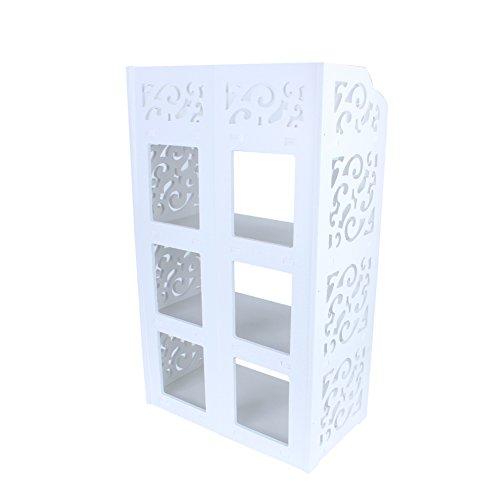 Nicoone Zapatero de 4 niveles, color blanco, hueco, para zapatos, para el hogar, salón, dormitorio, baño, oficina, pasillo, etc.