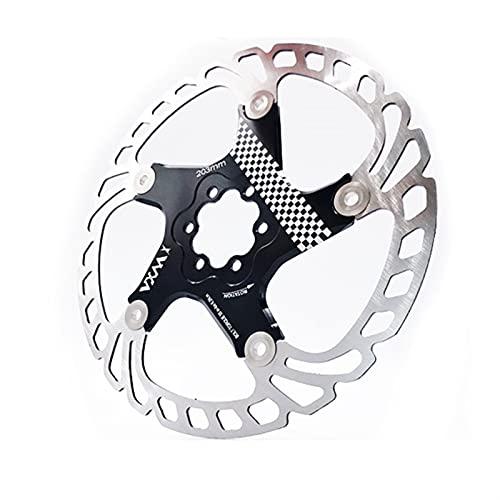 KSHYE Pastillas de Disco de Freno Rotores de Freno de Bicicleta MTB Freno de enfriamiento Freno de Disco Accesorios de Bicicleta Freno de Flotador Cojines de Disco de Freno (Color : 140mm Black)