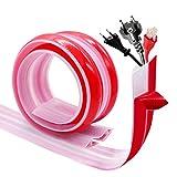 Pasacables Suelo, Canaleta Cables Suelo, Canaleta Pasacables para Suelo, Cubiertas de Suelo para Cables Autoadhesiva Perfec to para el Hogar, la Oficina o el Almacén, 0,8m