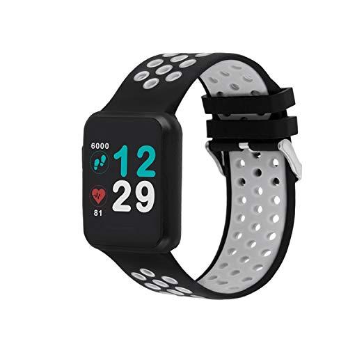 X-WATCH 54043 Keto - Smart Watch e Fitness Tracker, con cardiofrequenzimetro, impermeabilità IP68, Durata Batteria Fino a 20 Giorni, per Android & iOS, Colore Argento Lucido