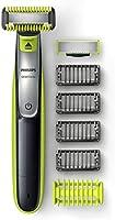 Philips OneBlade Cara y Cuerpo QP2630/30 - Recortador de Barba Recargable con Peine-Guía para el Cuerpo, 4 Peines-Guía...