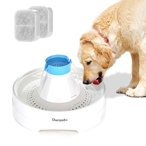 Ownpets Pet Water Fountain,Large 3L/102oz Automatic Dog Water Fountain Super Quiet Water Dispenser for Cats and Dogs with 2 Packs of Replacement Filters