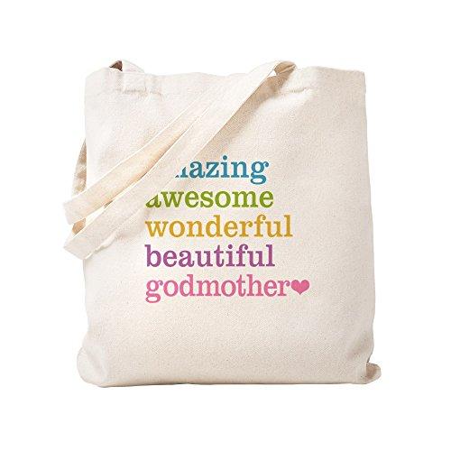 CafePress Godmother Amazing impresionante bolsa de lona natural, bolsa de compras de tela