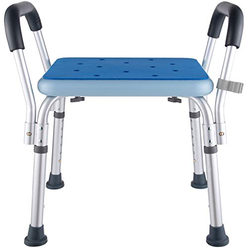 Bath Chair Shower Benches Bench with Arms,Medical Shower Chair Bench Bath Stool Safety Shower Seat for Elderly, Adults,...