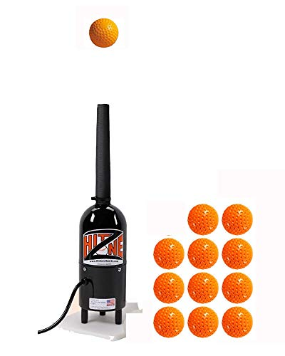 Hit Zone Air Powered Batting Tee - Model HZ-1B – Batting Aid & Swing Trainer for Baseball - T Ball - Softball - Ball Floats in Mid-Air! – Dozen Balls Included - Made in The USA!