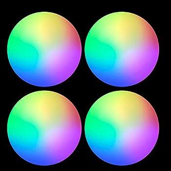 Bostar 4pcs Glow Golf Balls LED Light up Golf Balls Flashing Golf Balls Training Golf Practice Balls Night Golf Sports Gear Colorful