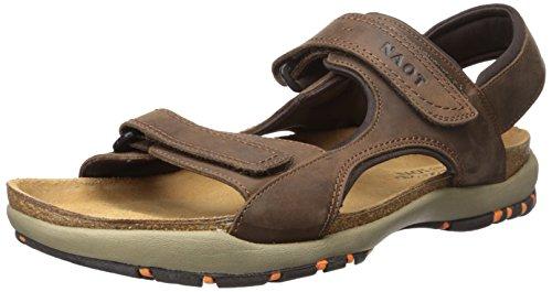 NAOT Men's Electric Flat Sandal, Brown, 46 EU/13 M US