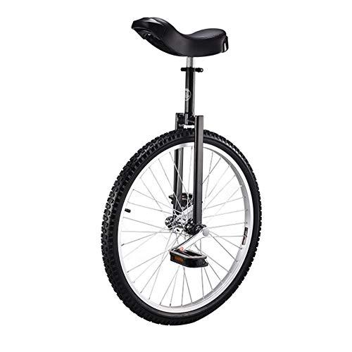 GFYWZ Bicicleta de Ciclismo de 18'a 24' Bicicleta de montaña Monociclo Bicicleta de Ciclismo con cómodo Asiento de sillín de liberación,Negro,24 Inch