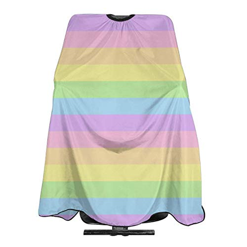 Professional Barber Cape Gay Pride LGBT Colorful Striped Salon Haircut Aprons Hair Styling Gown For Coloring Perming Hair Cutting Treatment Shampoo Chemical Proof Hairdresser 55