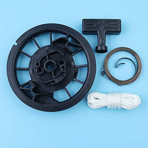 HaoYueDa Kit de Agarre de Cuerda de Resorte de polea de Arranque de Retroceso Compatible con Honda GX160, GX200, GX140, GX120,168F, 170F 5.5HP 6.5HP Motor Generador cortacésped