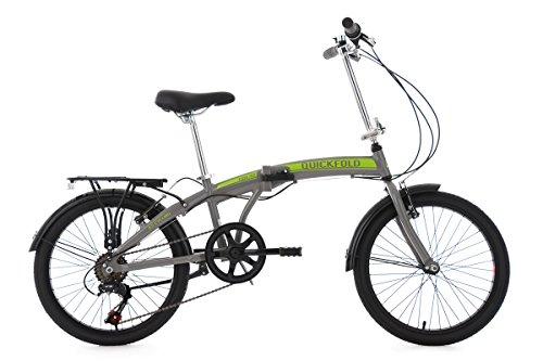 KS Cycling 132C Vélo Pliant Mixte Adulte, Gris