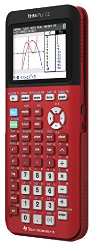Texas Instruments TI-84 Plus CE Color Graphing Calculator, Radical Red Photo #3