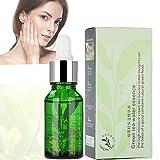 Serum facial antiarrugas,15 ml de té verde esencia suero hidratante contracción poros antiaging ácido hialurónico serum reparado cara esencia limpieza profunda