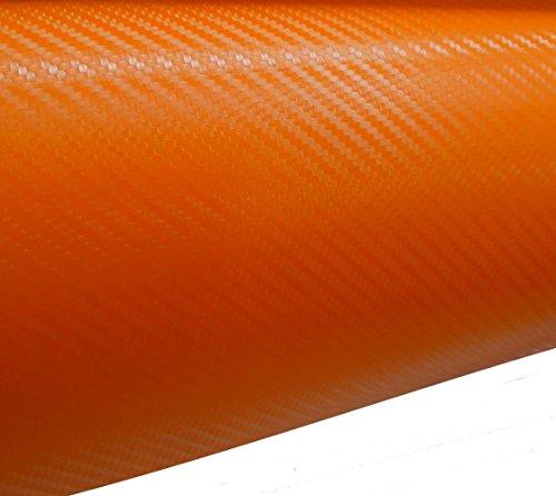 Aerzetix: 127/75cm Film adhésif Vinyle Fibre de Carbon Orange thermoformable C17200