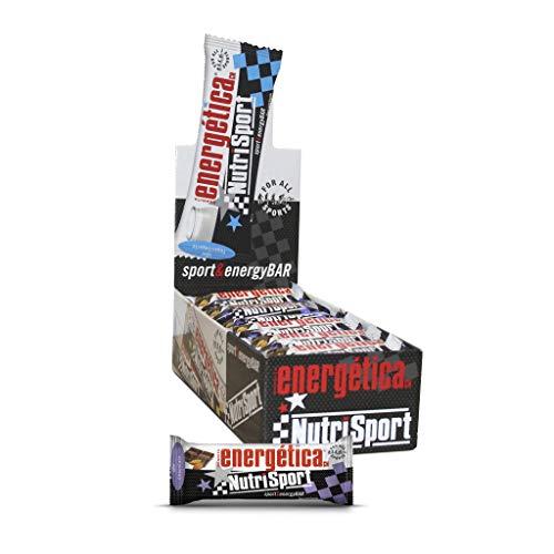 NUTRISPORT CLINICAL NUTRITION, S.A. – Barritas Energéticas para Deportistas, Sabor Chocolate Negro, Caja de 24 Barritas, 24x 44 gr