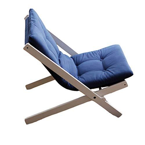 Silla de oficina Mini sofá pequeño, sofá japonés perezoso sofá ocio balcón sillón plegable silla de escritorio (color: B)