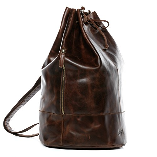 SID & VAIN Sac Marin Cuir véritable Heathrow Sac...
