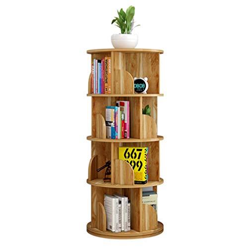 Librerie Scaffale Girevole a 360 ° Supporto per Libro Illustrato per Bambini Scaffale da Pavimento Angolo per Risparmiare Spazio (Color : Brown, Size : 40 * 129cm)