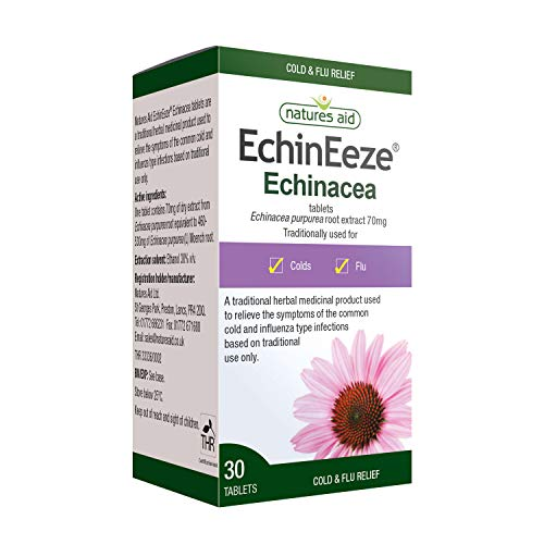 Natures Aid EchinEeze Echinacea root extra 30 tablet, 1 g