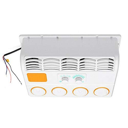 Tanti 24V Condizionatori Auto Raffreddatore d'Aria Sospeso Ventilatore per Aria Condizionata con Evaporatore per Auto per Camion Camper Escavatore