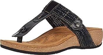 Taos Footwear Women s Pam Black Sandal 10-10.5 M US