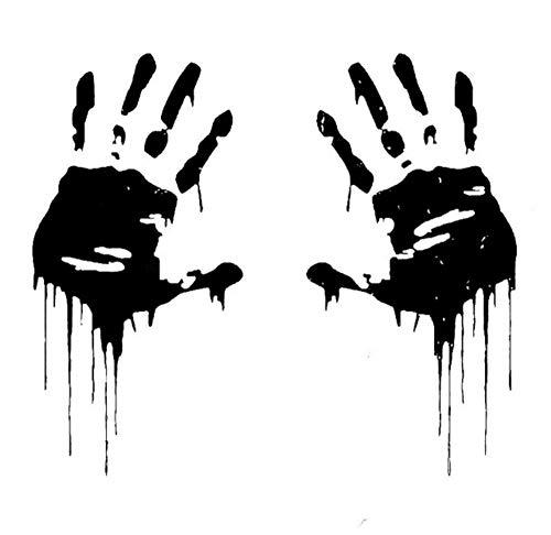 MUXIAND Auto Sticker, Zombie handen gedrukt 8x15 cm Aangepaste PVC DIY Auto Motorfiets Sticker Art Accessoire Creatieve Spel Stijl Venster Helm Decal Verjaardag Gift 5 Stks