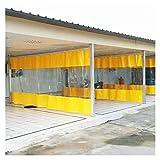 ASPZQ Cortina Impermeable Al Aire Libre Transparente con Ojales for Pabellón, Balcón, Garaje, Jardín Paneles Laterales de Carpa A Prueba de Lluvia, Varios Tamaños (Color : Yellow, Size : 8.5x3m)