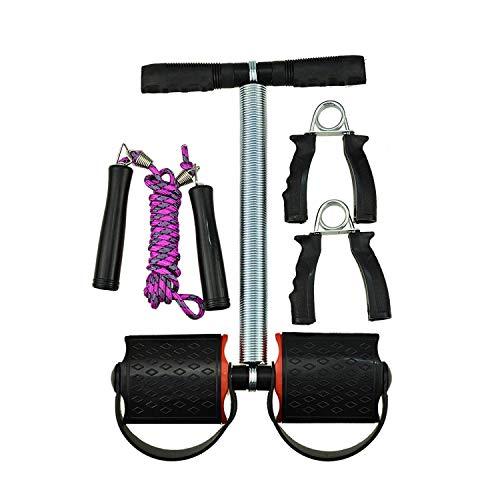 AVMART Complete Fitness Fat Loss Exercise Set of Skipping Rope, Ab Exerciser Tummy Trimmer & Hand Grip