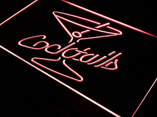 ADV PRO Enseigne Lumineuse i522-r Cocktails Rum Wine Lounge Bar Pub New Light Sign