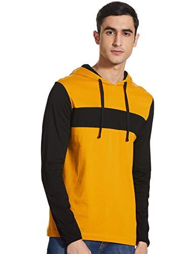 Amazon Brand - Symbol Men's Solid Regular T-Shirt (AW20SYMTEE17_Sunflower L)
