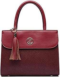 Zeneve London Chloe Satchel Bag For Women - Red