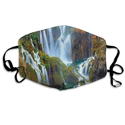 BIT - Passamontagna a tema naturalistico con sorprendenti cascate del Parco Nazionale di Plitvice, passamontagna riutilizzabile e lavabile per adulti