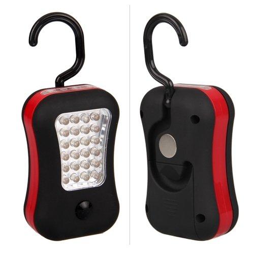 TOOGOO(R) Luz de Trabajo 28 LED para Coche Linterna con Gancho y iman