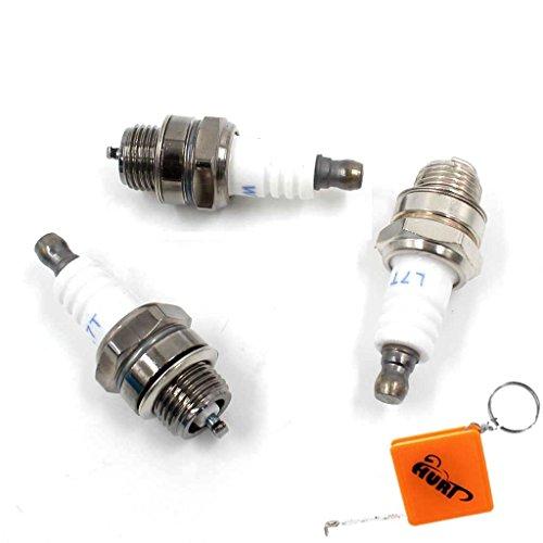 HURI 3x Zündkerze passend für Motorsägen & Freischneider STIHL Dolmar Husqvarna Ersetzt NGK BPMR7A Dolmar 965603021 Bosch WSR6F