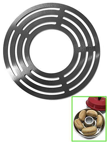 STYYL Aufbackgitter (1.ste Ebene) passend für OMNIA®-Backofen aus Edelstahl | Backblech | Zusatzblech | Backgitter | Edelstahlgitter | unterer Boden | Einlegeboden | für Omnia Sweden