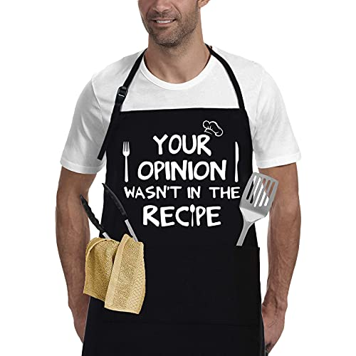 Mens Funny Aprons Dad Gifts,Gifts for Men,Christmas Thanksgiving beer gift,for Kitchen Cooking bbq cookout Apron