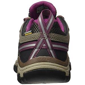 KEEN Women's Targhee 3 Waterproof Hiking Shoe, Weiss/Boysenberry, 6.5 M (Medium) US