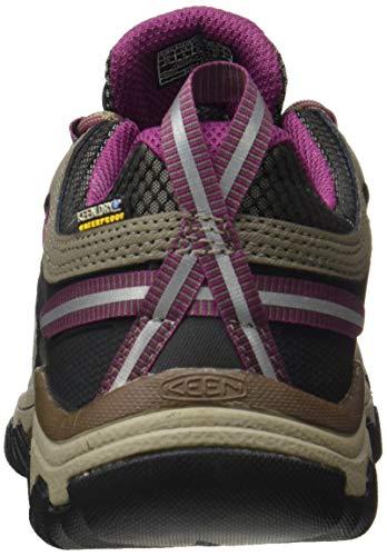 KEEN Women's Targhee 3 Waterproof Hiking Shoe, Weiss/Boysenberry, 8.5 M (Medium) US