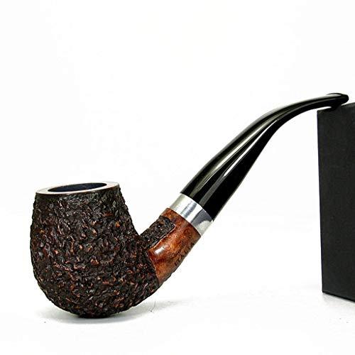 LYQZ Briar Wood Tobacco Pipe For Men Vintage Portable Solid Wood Pipe Filter Accesorios de Fumar con Caja de Regalo (Color : A)