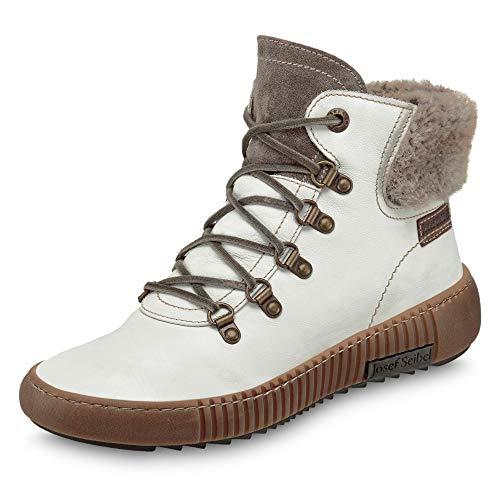 Josef Seibel Damen Stiefel Maren 17, Frauen Winterstiefel, Women's Women Woman Freizeit Winter-Boots schnürstiefel,Weiß(Weiss-Kombi),41 EU / 7 UK