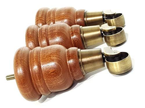 4 patas de madera de caoba de 155 mm de alto para muebles con patas antiguas de repuesto para sillas, sofás M8 (8 mm) TSP2007