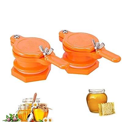 Honey Extractor, 2 Pcs Honey Gate Valve, Honey Tap, Reusable Honey Extractor Tap, Honey Bottling Tools for Beekeeping Supplies (Orange) by PHW Ihome